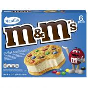 M&M's Vanilla Ice Cream Cookie Sandwiches