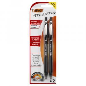 Bic Atlantis Original Medium Black Ball Pens