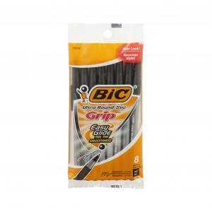 BIC Ultra Round Stic Grip Black