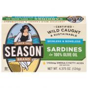 Season Skinless & Boneless Sardines In Pure Olive Oil