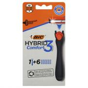 BIC Hybrid 3 Comfort Men's 3-Blade Disposable Razor System