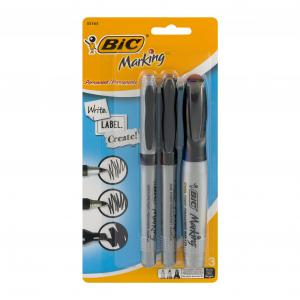 BIC Mark-It Chisel Tip Permanent Markers
