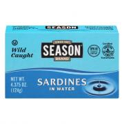 Season Sardines in Water with Salt