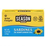 Season Wild Caught Sardines in Sunflower and Olive Oil