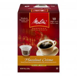 Melitta Hazelnut Creme Single Serve Coffee Cups