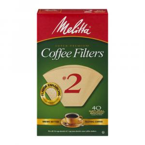 Melitta #2 Cone Natural Brown Coffee Filters
