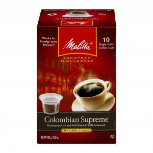 Melitta Colombian Supreme Single Serve Coffee Cups