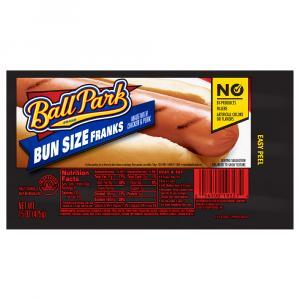 Ball Park Bun Size Meat Franks