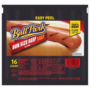 Ball Park Beef Franks Family Size Bun Size