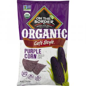 On the Border Organic Cafe Style Purple Corn Tortilla Chips