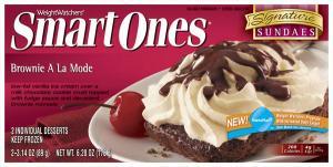 Weight Watchers Smart Ones Brownie A La Mode