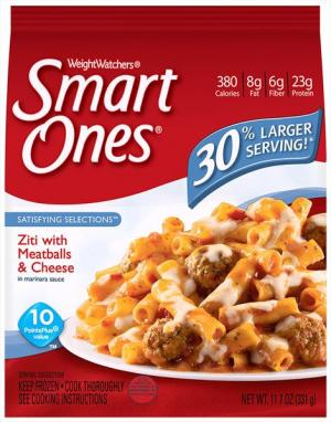Weight Watchers Smart Ones Zita With Meatballs & Cheese