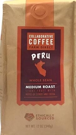 Collaborative Coffee Peru Whole Bean Medium Roast Coffee