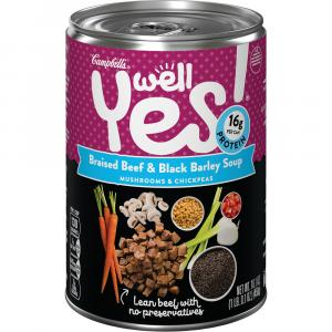 Campbell's Well Yes Braised Beef & Black Barley Soup