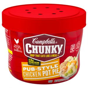 Campbell's Chunky Pub-Style Chicken Pot Pie Microwave Bowl