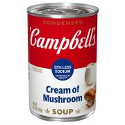 Campbell's 25% Less Sodium Cream of Mushroom Soup