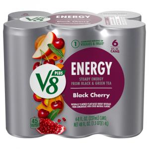 V8 V-fusion +energy Black Cherry
