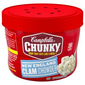 Campbell's Chunky Microwave Bowl New England Clam Chowder