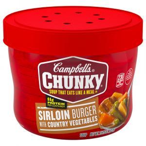 Campbell's Chunky Microwave Bowl Sirloin Burger
