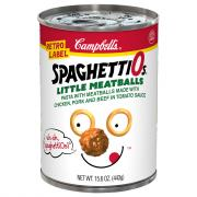 Campbell's Spaghettios Retro Label with Little Meatballs