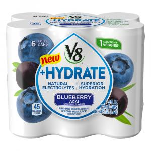 Campbell's V8 +Hydrate Blue Acai