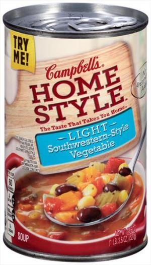 Campbell's 100% Natural Light Fiesta Vegetable Soup