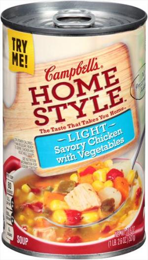 Campbell's 100% Natural Light Chicken & Vegetable Soup