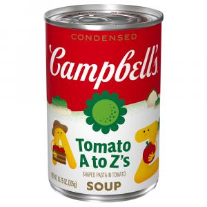 Campbell's Tomato Soup With ABC's Pasta Shapes
