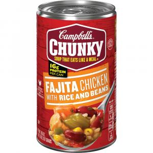 Campbell's Chunky Fajita Chicken W/rice & Beans Soup