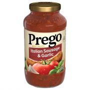 Prego Italian Sausage and Garlic Spaghetti Sauce