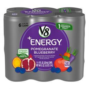 V8 V-fusion +energy Pomegranate Blueberry