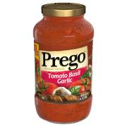 Prego Tomato, Basil, and Garlic Spaghetti Sauce