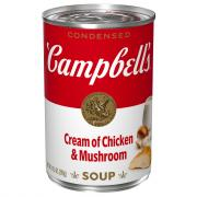 Campbell's Red & White Cream of Chicken Mushroom Soup