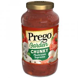 Prego Chunky Garden Mushroom Supreme Spaghetti Sauce