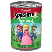 Campbell's Mario SpaghettiOs Meatballs