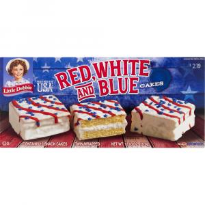 Little Debbies Red, White and Blue Vanilla Cakes