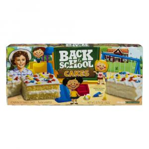 Little Debbie Back to School Cakes Vanilla