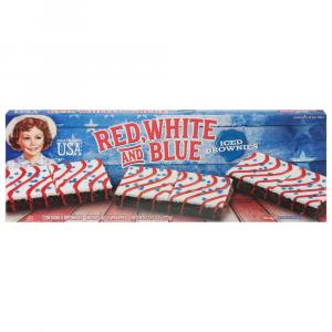 Little Debbie Red, White And Blue Iced Brownies
