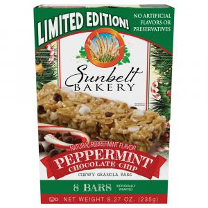 Sunbelt Bakery Peppermint Chocolate Chip Chewy Granola Bars