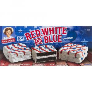 Little Debbie Red, White and Blue Chocolate Cakes