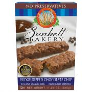 Sunbelt Bakery Fudge Dipped Chocolate Chip Chewy Granola Bar
