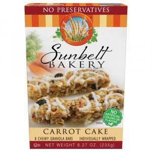 Sunbelt Carrot Cake Chewy Granola Bars