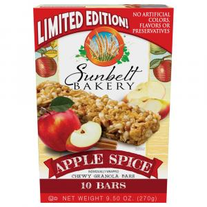 Sunbelt Bakery Apple Spice Chewy Granola Bars