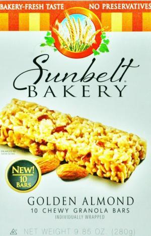 Sunbelt Bakery Golden Almond Chewy Granola Bars