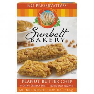 Sunbelt Bakery Peanut Butter Chip Chewy Granola Bars
