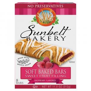 Sunbelt Raspberry Cereal Bars
