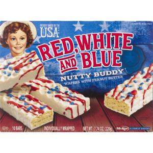 Little Debbie Red, White, & Blue Nutty Buddy Wafers