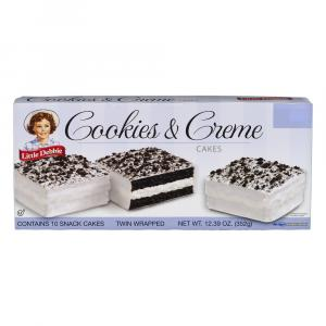 Little Debbie Cookies and Creme Cakes