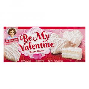 Little Debbie Be My Valentine Vanilla Cakes