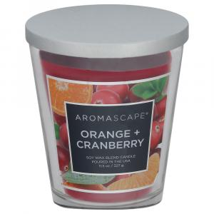 Aromascape Orange + Cranberry Soy Wax Blend Candle